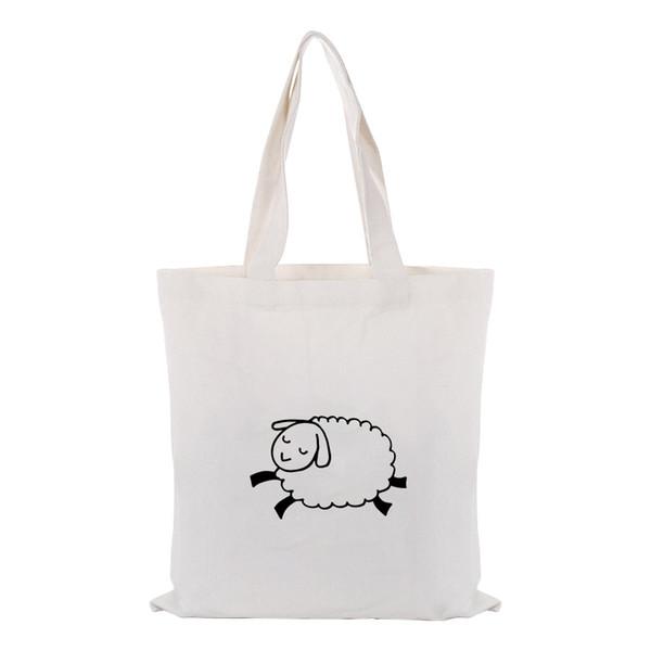 Shopping Bag ILLUSTRATION Canvas Tote Bag Handbag Custom Print Logo Text DIY Daily Use Print Eco Reusable Recycle