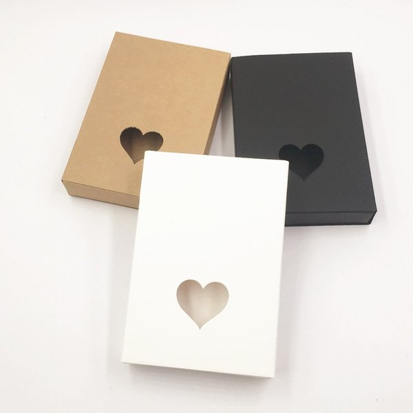 kraft paper cardboard gift boxes for wedding new Small black paper drawer box christmas gift packaging box 24pcs/lot