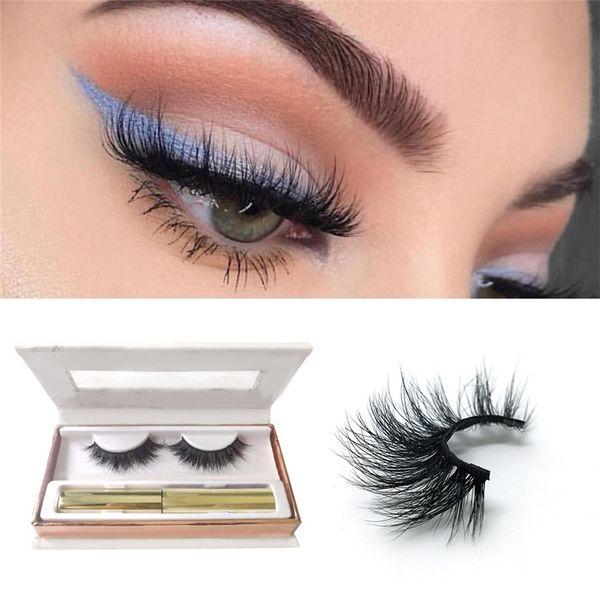 best selling NEW Magnetic Liquid Eyeliner for Magnetic Eyelashes (Eyeliner + three Magnetic Magnet eyelashes) Glue Free False Eyelashes