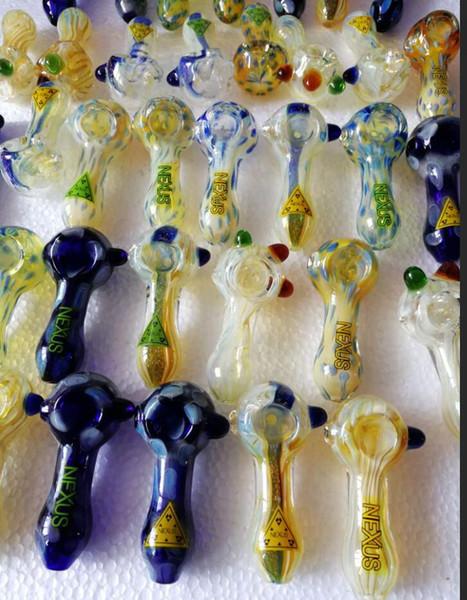 Nuevos vaporizadores de colores tubos de vidrio para manos que tubos de vidrio para fumar vapores de colores tubos de vidrio manuales Tubos de tabaco Accesorios para fumar