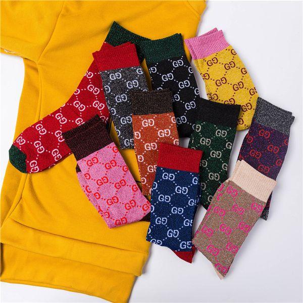 best selling Full G Luxury Socks Hosiery Fashion Sparkling Women Sexy Socks Cute Girl Street Hip-hop Socks Female Women's Stockings
