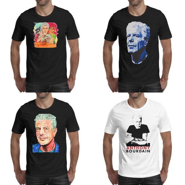 RIP_Celebrity_chef_author_Parts_unknown черные мужские футболки дизайн рубашки винтаж дизайнер друзья классический Энтони-Майкл-Бурден 4