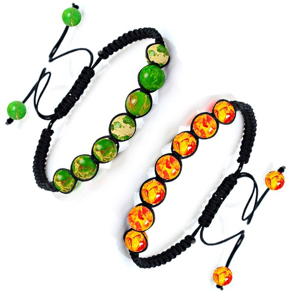 Colorful Natural Stone Tiger Eye Agates Bead Chakra Bracelets For Women Energy 7 Chakra Yoga Bracelet For men K6071