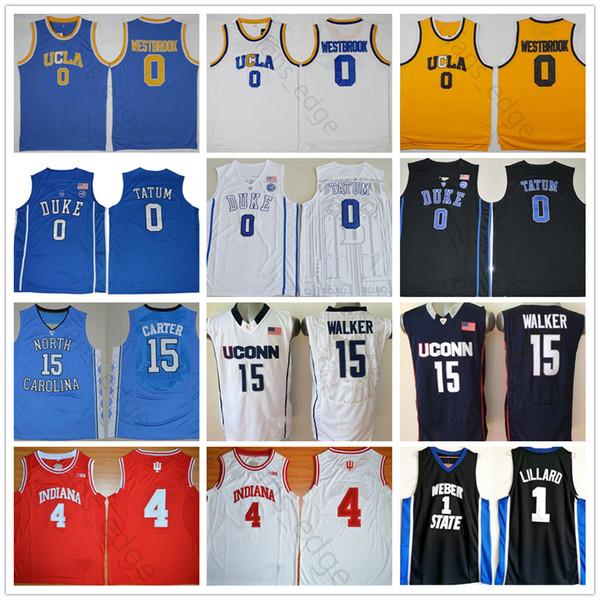 Universidade NCAA Jayson 0 Damian Damill Russell Westbrook Nikola 15 Jokic Pascal 43 Siakam 4 Kemba Oladipo 8 Walker Basquete Jerseys