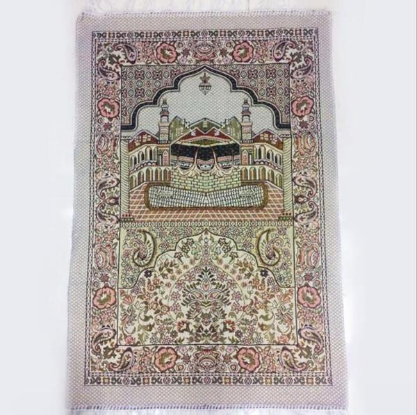 top popular Islamic Muslim Prayer Mat Salat Musallah Prayer Rug Tapis Carpet Tapete Banheiro Islamic Praying Mat 70*110cm KKA6802 2019