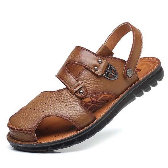 Sandalias de cuero genuino Zapatillas de alta calidad Diseñador Diapositivas Moda de verano Zapatilla plana boca ancha envío gratis 38-45 x159
