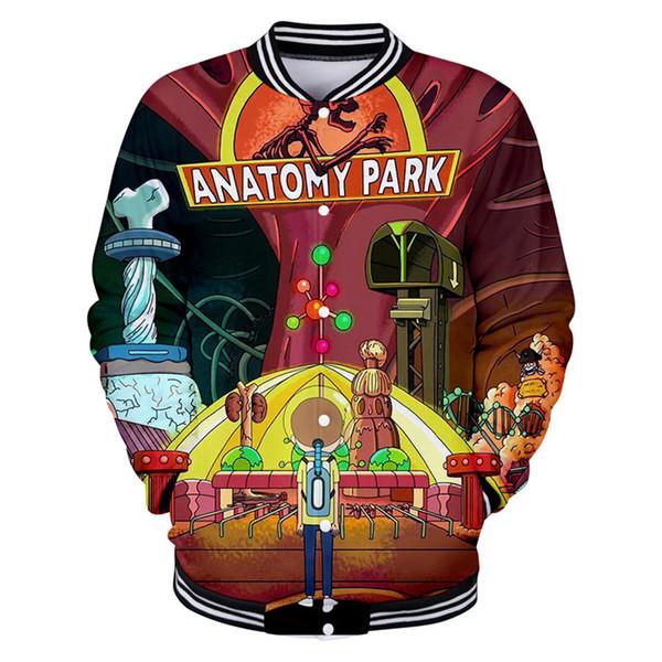 Rick and Morty Mens Sweatshirts Hot Designer 3D digitale stampato comico monopetto Felpe con cappuccio abiti maschili