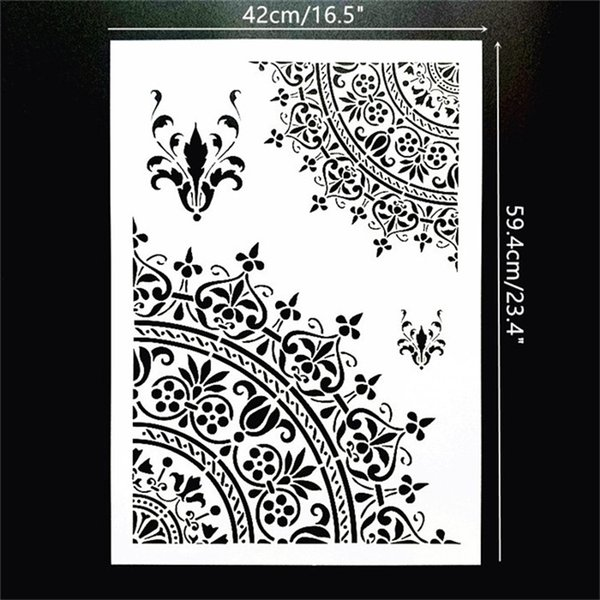 A2 Size Diy Craft Reusable Flexbile Mandala Stencils Template For Wall Floor Painting Decorative Online Postage Stamps Print Your Own Postage From