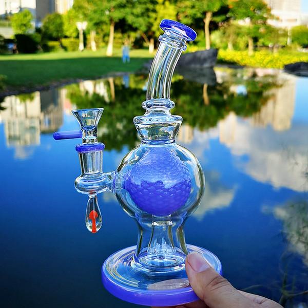 Новейший 7-дюймовый шарик Perc Heady Glass Bong Showhead Percolator Толстые бонги Нефтяные вышки 14 мм Женский шарнир с чашей Уникальные водопроводные трубы