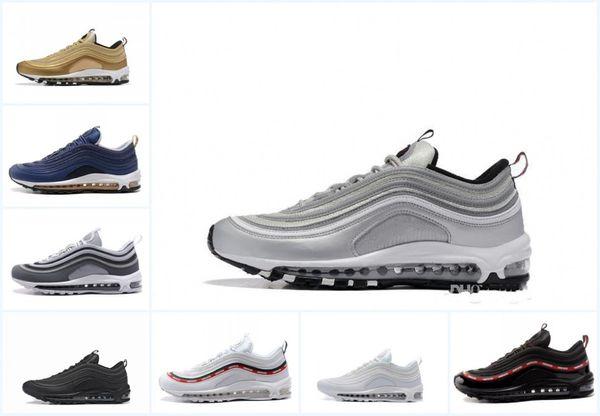 Des femmes des hommes de sport Chaussures de sport Entraîneur Chaussures de course Og Or Argent Bullet Triple Blanc Noir Taille 36-45