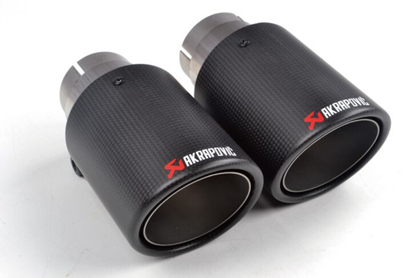 top popular 2 pieces (one pair) Multi Inlet 63MM Akrapovic Carbon Tip Exhaust Pipe End Pipes AK Carbon Exhaust Tips Muffler car accessories 2021