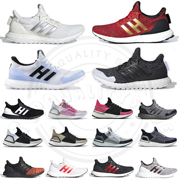 top popular Game of Thrones Ultra Boost 4.0 5.0 Sports Running Shoes Lannister Stark Red Triple Black Blue mens trainers Ultraboost Designer Sneakers 2019