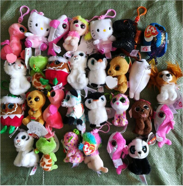 best selling Ty Beanies Keychains Ty Beanie Plush Toys TY Plush Pendants Unicorn Plush Toys Stuffed Animals Dolls Boos Marcel TWIGGY Owl 100pcs