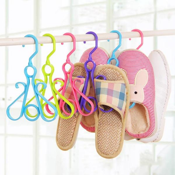Hanging Hanger chaussures étendoir simple rack de vêtements en plastique durable de stockage portable Accueil pratique Accessoires de stockage