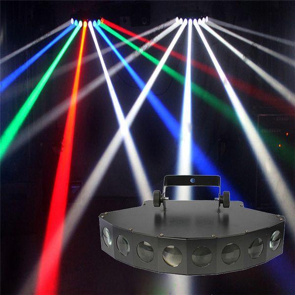 Disco Stage Beam Light 8 * 10W LED RGBW DMX 512 Party Lights Club Sound Light Equipo de DJ profesional Scanner Bar Lights 110-240V