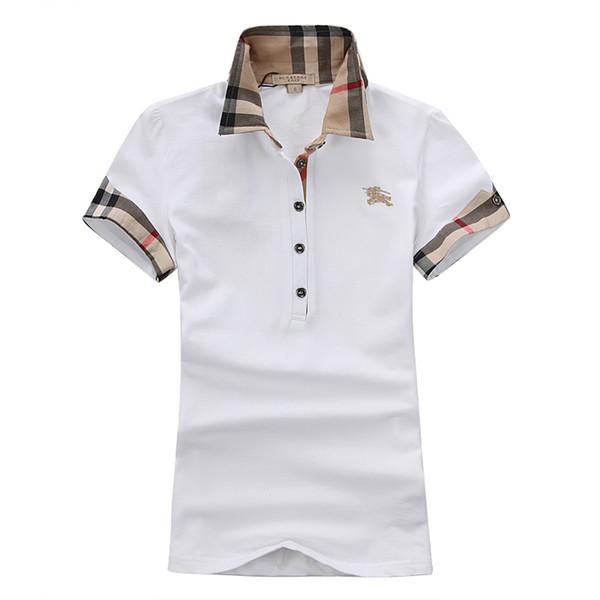 Camisetas de diseñador para mujer de verano de lujo camisas de polo con bordado 2019 Venta caliente de las mujeres de alta calidad de Color sólido Polos 5 Color tamaño S-2XL