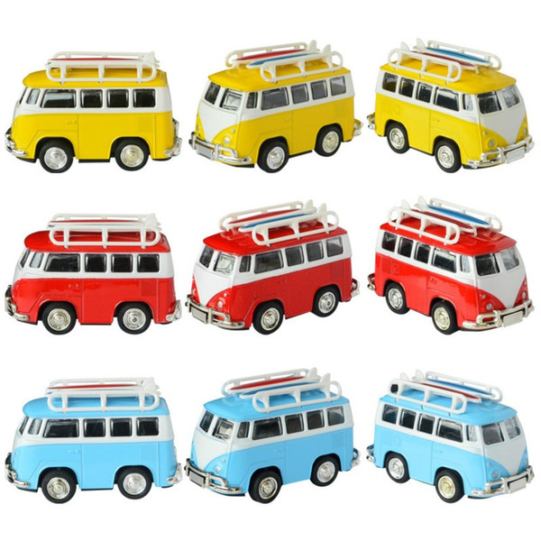 Mini Alloy Car Models Toy for VW Van Bus Retro Paint T1 Classic Surfing Bus Diecast Model Children's Toy Car for Baby Kids Gift