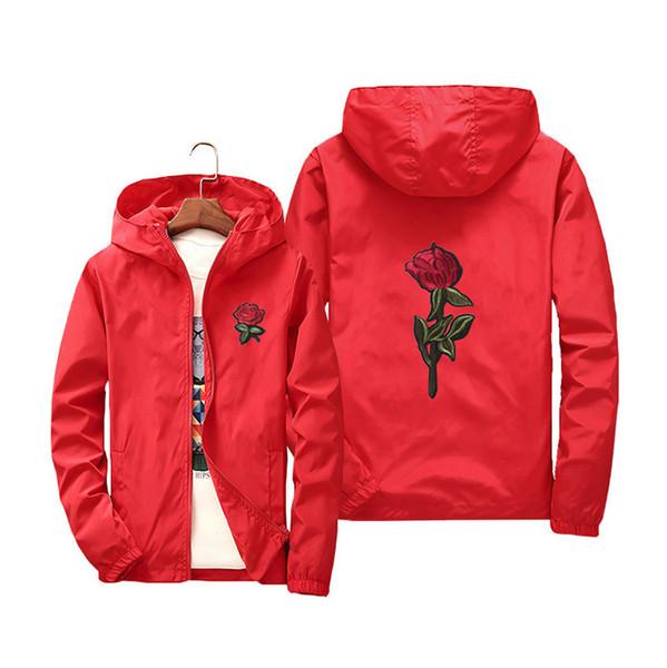 Новые поступления в 2019 году Роза куртка ветровка мужская и женская куртка новая мода белые и черные розы верхняя одежда пальто