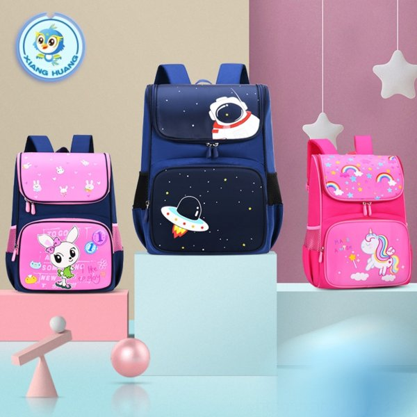 top popular Xiangxi Primary School schoolbag backpack 1-3-4-6 grade boys and children 6-12 years old light cartoon cute backpack 2021