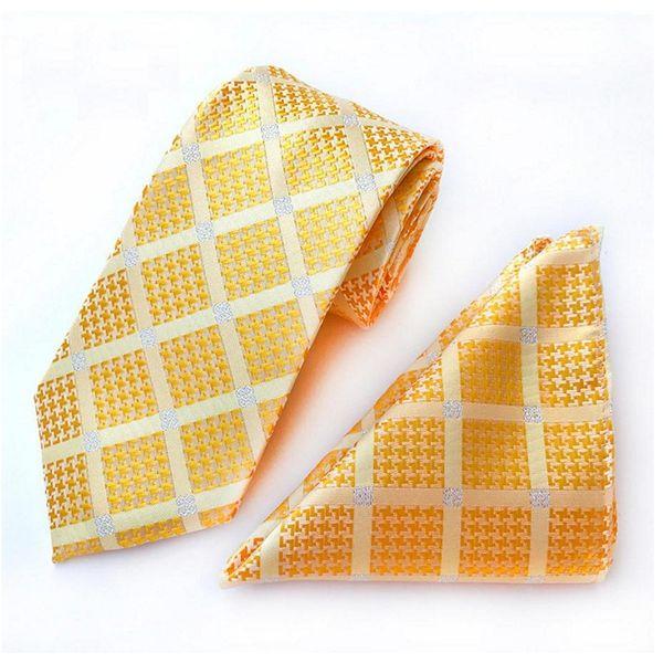 8cm Krawatte Set Karo Floral Herren Krawatte für Herren Plaid Dot Taschentuch Krawatte Set Business Krawatten Ascot Shirt Accessoires