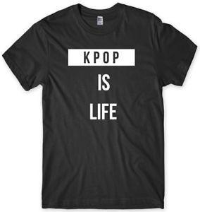 Мужская забавная мужская футболка KPOP Is Life