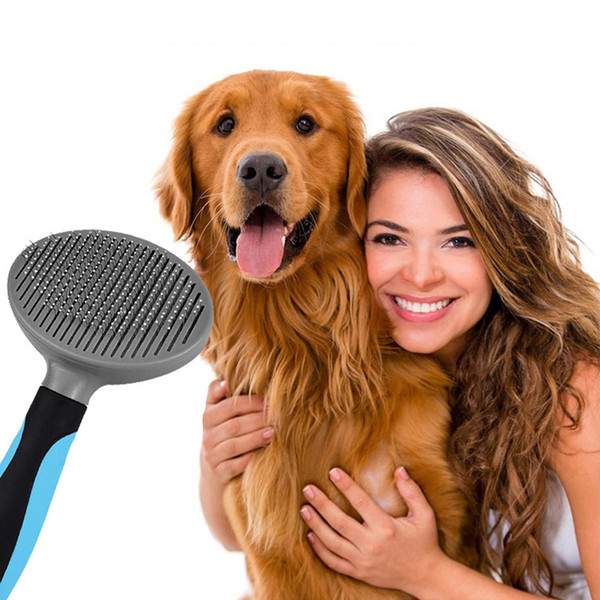 New Pet peigne automatique Épilation chien peigne Pet autonettoyante petit chien chat noeud peigne auto-nettoyant
