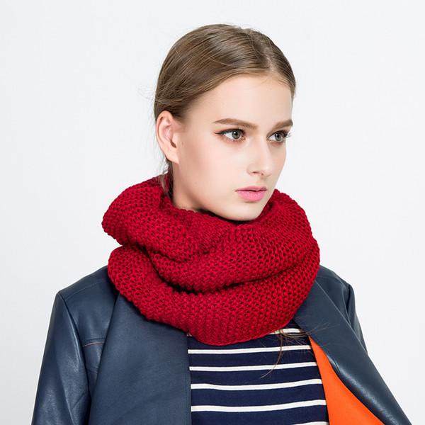 Donne a buon mercato Designer di lusso Sciarpa di lana echarpes Pure Color Sciarpe di cachemire Mantello di lavoro a maglia di lana Fazzoletto da collo Spedizione gratuita
