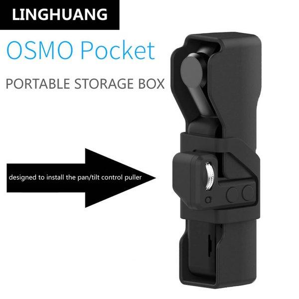 Neue DJI OSMO Pocket Mini Tragbare Fall Silikon Zubehör Schwarz Mit Handschlaufe OSMO TASCHE Handheld Gimbal Kamera Aufbewahrungsbox