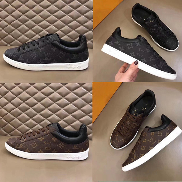 top popular 2020 Quality Designer Shoe Fashion Luxury men Men Leather Lace Up Platform Oversized Sole Sneakers Black, brown Casual Shoes With Box 2020