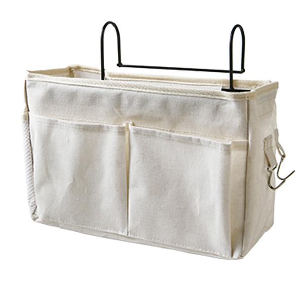 Organizzatore del supporto del sacchetto di immagazzinaggio dell'appesoio del panno del panno per l'ospedale di rotaie del dormitorio del dormitorio Organizzazione domestica di immagazzinaggio - bianco di aggiornamento