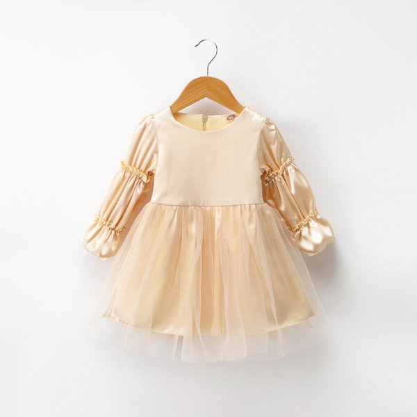 good quality Girls Dress Long Sleeve Kids Lace Dresses Children Casual Princess Style Costume 2019 Autumn Ball Gown Outfits For Girl