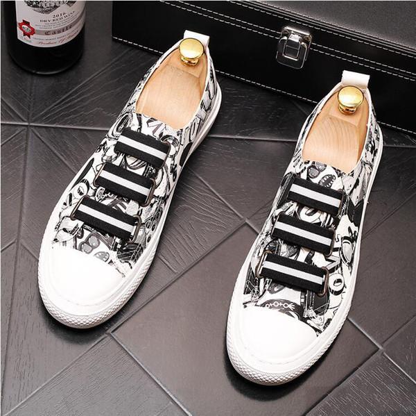 Homens Moda High Top Sneakers Impressão Tiger Casual Sapatos Altos Homens Elastic Band Sapatos De Casamento De Microfibra