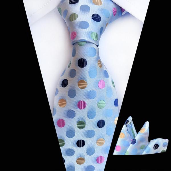 Nuovi set Tie Hanky uomini Papillon e Pocket Piazza Dots a righe cravatta Cravate fazzoletto Man Ties