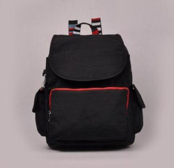 Men madam Ultralight stripe zipper waterproof Nylon monkey star PRINTED Multicolor pocket backpack City Pack in common use Pack K-P12147-4
