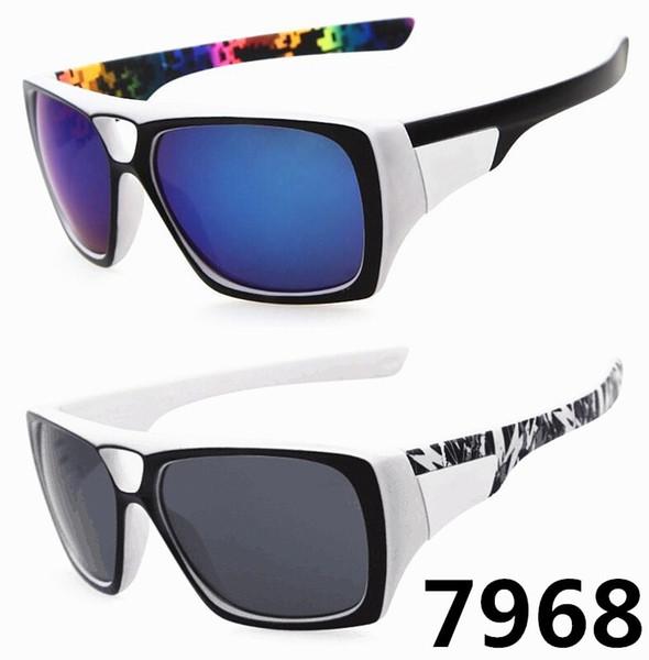 Classic Oversized Square Frame Sport Cycling Sunglasses 7968 Brand Designer Mens Sunglasses Outwear Glass SGD033