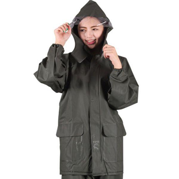 Señoras de la motocicleta al aire libre Chaqueta impermeable Poncho Senderismo cubierta de la capa de lluvia traje de los hombres con capucha Gear Impermeable Capa De Chuva R5C160