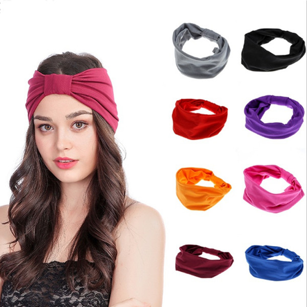 Elastic Women Sport Headband Under Sweat Wicking Stretchy Athletic Bandana Headscarf Yoga Headband Head Wrap Hair Accessories