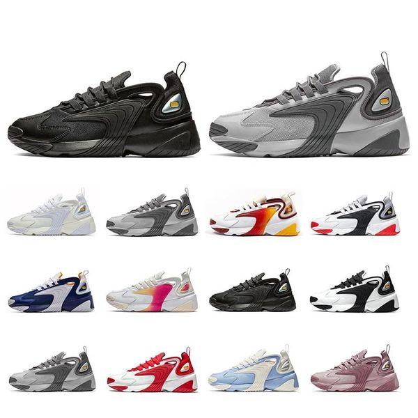 Monarch 4 M2K Tekno Zoom 2K Triple Noir Hommes Femmes Chaussures de course Rush Rose Crème légère mode Entraîneur sportif Chaussures de sport taille eur 36-45