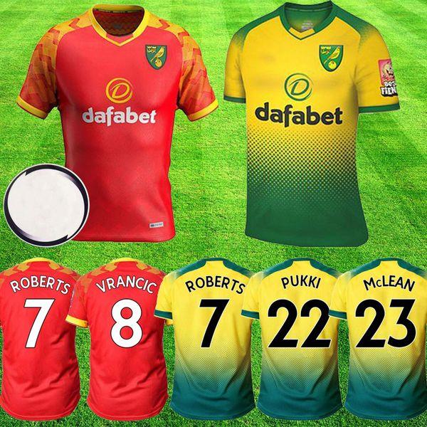 2019 2020 NORVEÇ ŞEHİR Futbol Formaları 19 20 kitleri BUENDIA Futbol forması HERNANDEZ MCLEAN PUKKI STIEPERMANN ROBERTS maillots de foot