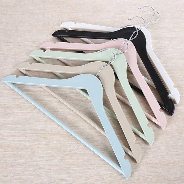 50 unids / lote envío rápido hotel antideslizante pantalones de suspensión de plástico Rack traje adulto tienda de ropa percha Hotel percha