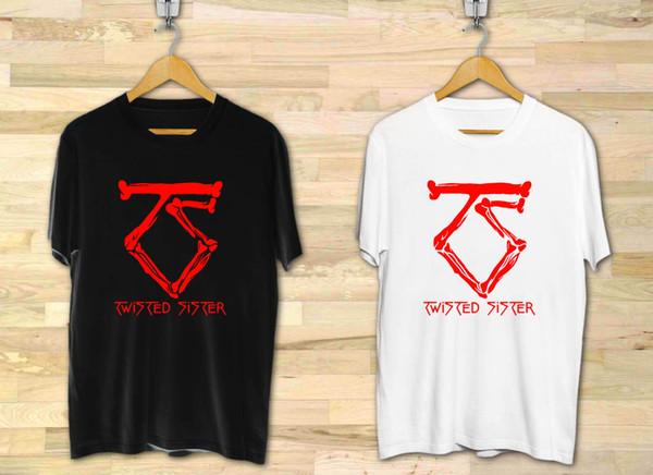 Twisted Sister Bone Hard Rock Band Logo Men's Black White T-Shirt XS to 3XL Funny free shipping Unisex Casual Tshirt top