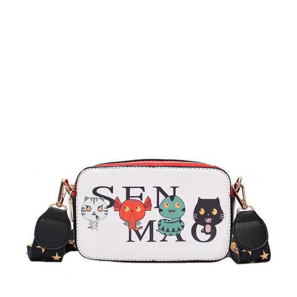 Fashion Shoulder Bag For Women Crossbody Bag Small Cute Doodle Graffiti Girl Tide Camera Messenger Bags Leather Double Zipper