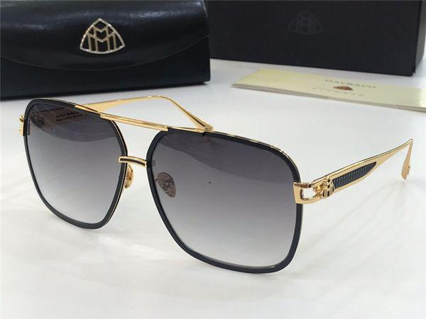 YENİ En lüks K altın erkekler gözlük otomobil markası Maybach tasarımcı gözlük Pilot titanyum çerçeve üst miktarı açık UV400 güneş gözlüğü