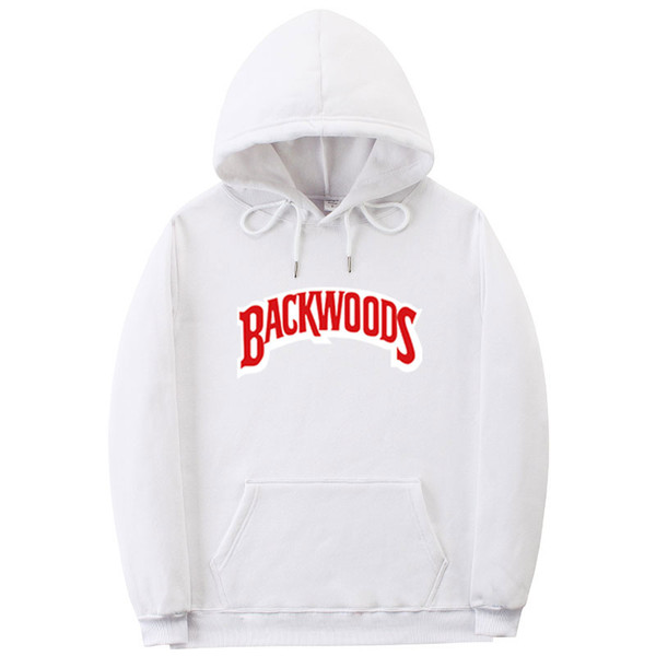 Vida iplik manşet Hoodies Streetwear Backwoods Hoodie Kazak Erkekler Moda sonbahar kış Hip Hop hoodie kazak