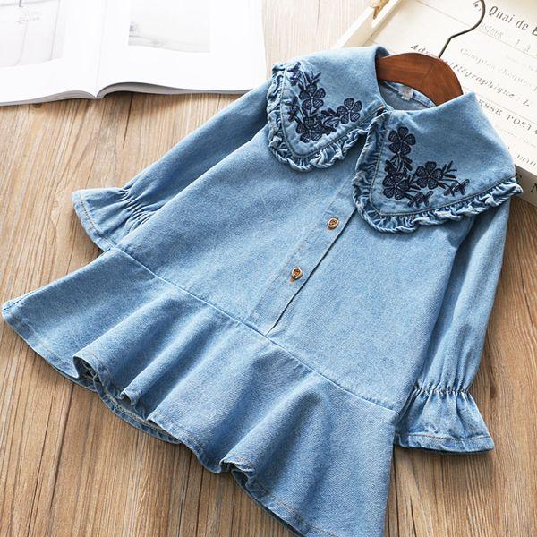 72f3e7c14025 Denim Embroidery Dress Girls Kids Online Shopping