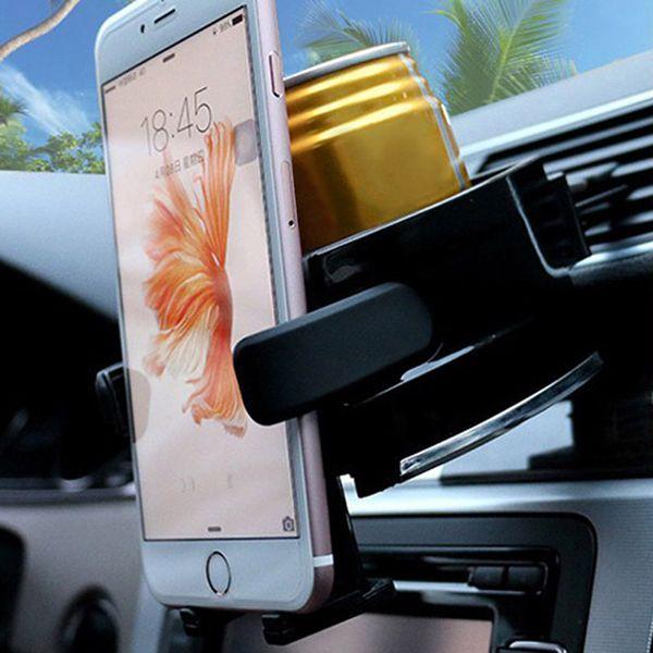 Multifunction Car Cup Drink Holder Aiar Vent Outlet Water Bottle Phone Stand Black Drink Holder Car Styling