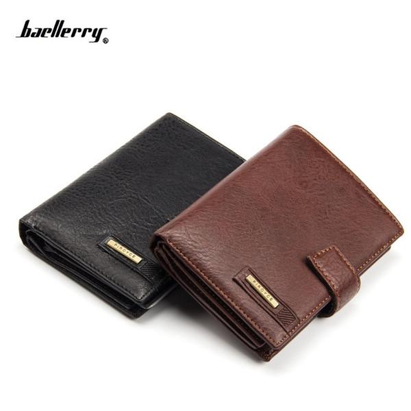 New Vintage men's leather wallet money clip purse brand Passport wallet large capacity wallets for men coin card purse #139690