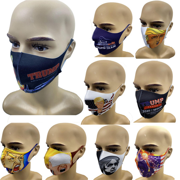best selling Trump Face Masks American Election Supplies Dustproof Anti-fog Mask Men and Women Outdoor Protection Masks With retail Package Free Shipping