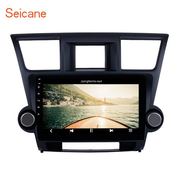 In Dash 10.1 inch Android 8.1 Car Stereo GPS Navigation for 2014 2015 Toyota Highlander with 1024*600 Touch Screen WIFI support Rear camera