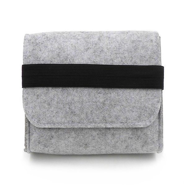 New Cheap Felt Storage Bag Mini Power Bank Case Travel Organizer For Digital Accessories Portable Gadget Pocket